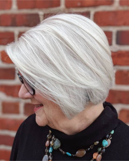 Best Short Bob Haircut for Women Over 70