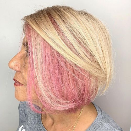 Over 70 Blonde Bob Haircut