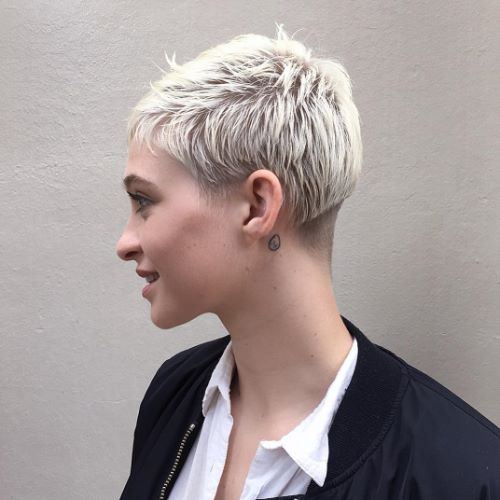 Edgy Spiky Crop with Undercut