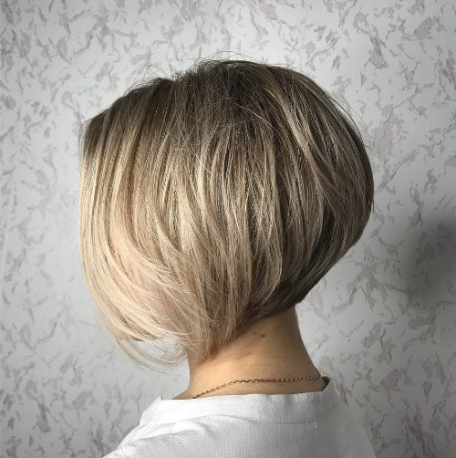 Stacked Layered Bob for Fine Hair