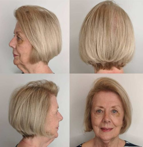 Blonde Stacked Haircut for Thinning Hair