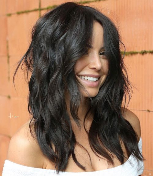 Wavy Layered Hairstyle for Thick Hair