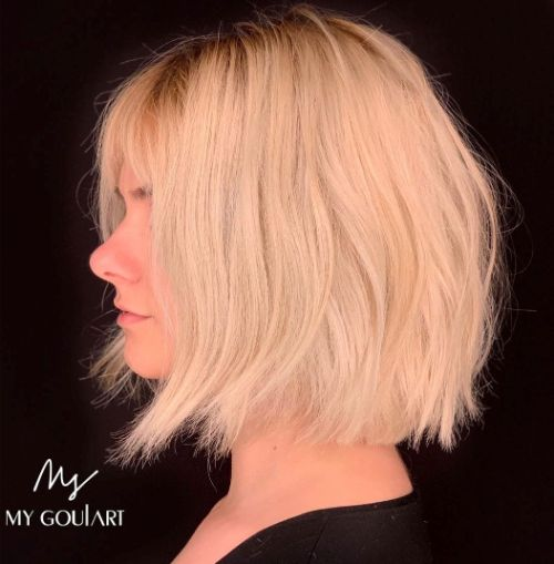 Messy Bob for Fine Hair