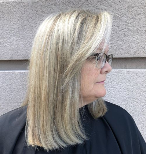 Medium Length Cut with Glasses
