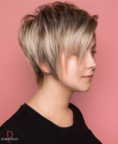 Long Pixie Hairstyle for Thin Hair