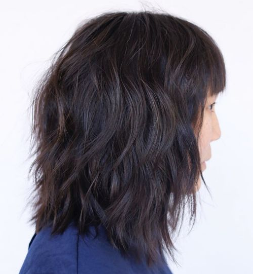 Medium Shag Hairstyle for Thick Hair