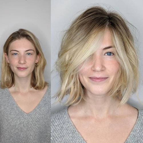 Shaggy Bob with Layers and Volume
