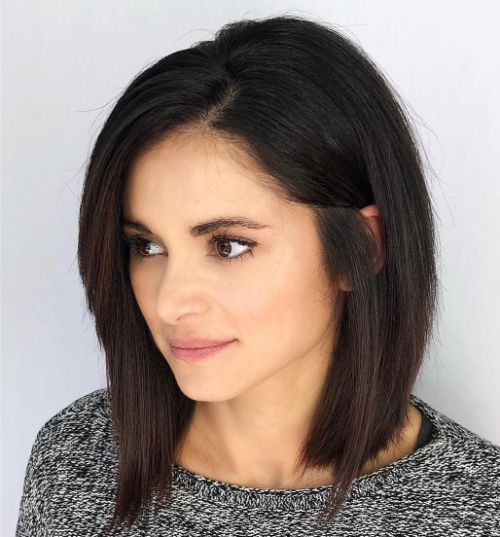 Silky Sleek Lob Haircut