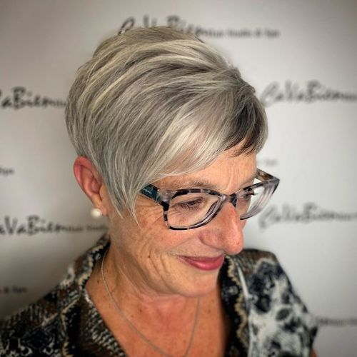 Gray Hairstyle for a 70 Year Old Woman