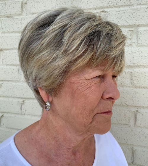 Low-Maintenance Bronde Hairstyle Over 70