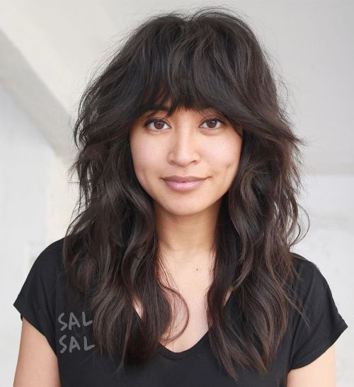 Wavy Shag Haircut for Thick Hair