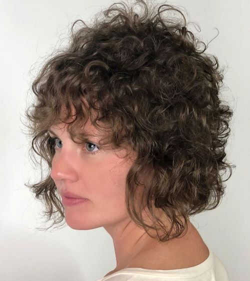 Short Shag for Thin Curly Hair