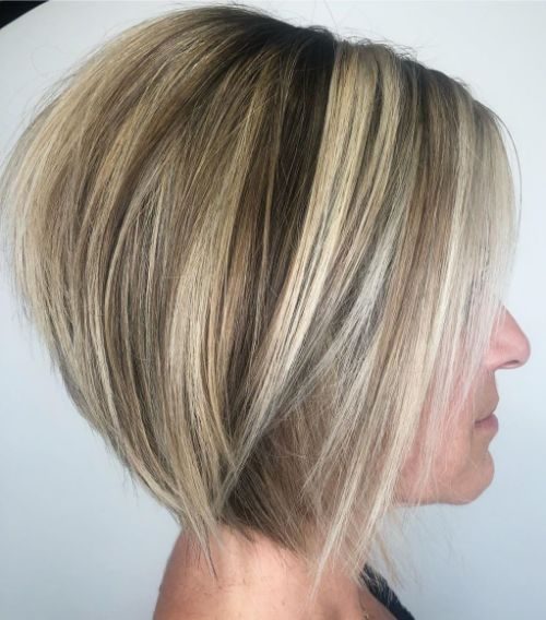 Stacked Haircut for Thin Hair