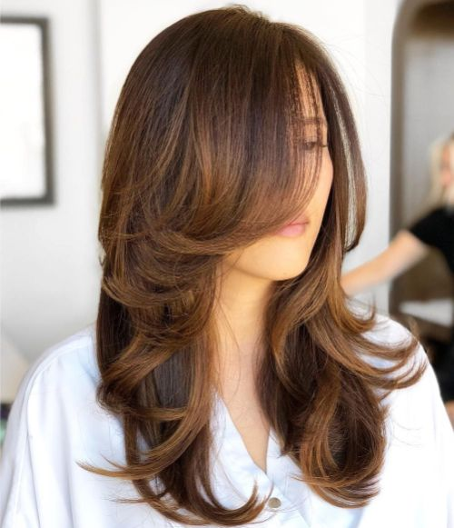 Mocha Hair with Caramel Layers