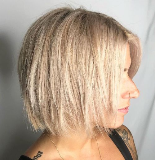 Blonde Hairstyle with Layers for Fine Hair