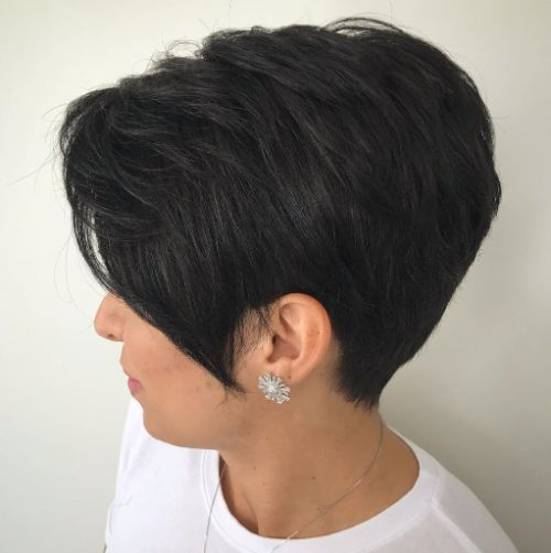 Tapered Pixie for Dark Hair