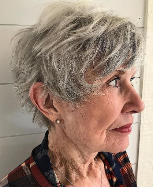 Salt-and-Pepper Messy Cut
