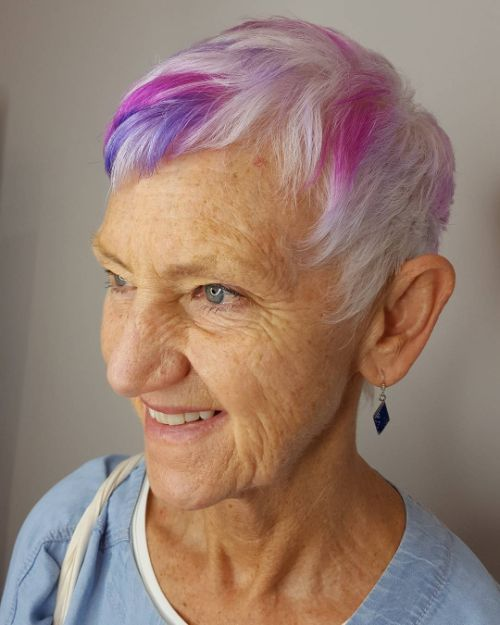 Short Hair Style for Women Turning 70