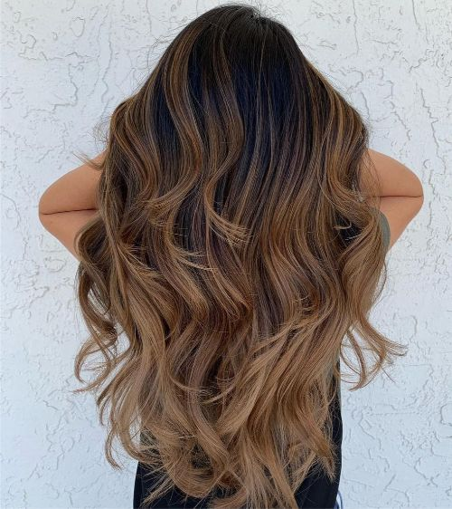 Long Layered Hair with Curls