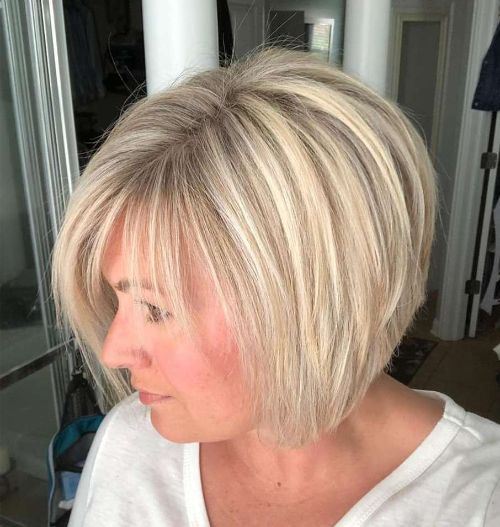 Classic Blonde Bob with Graduated Layers