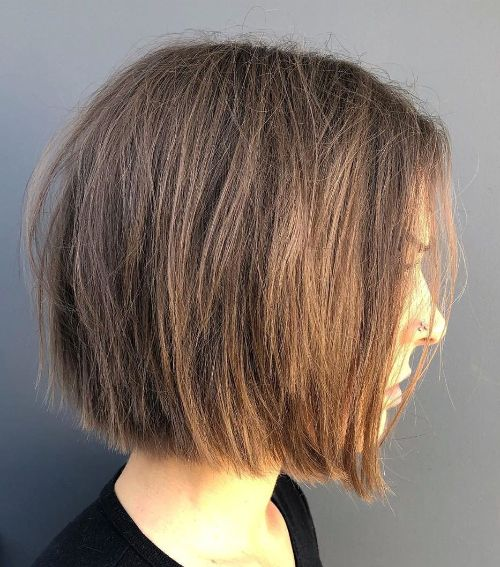 Razored Bob for Fine Hair and Round Face