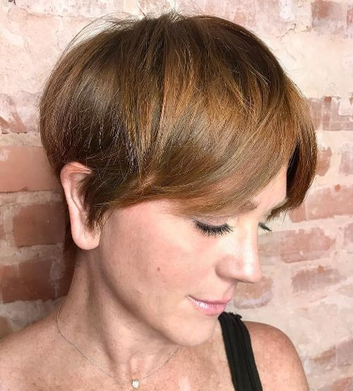 Short Haircut with Curtain Bangs