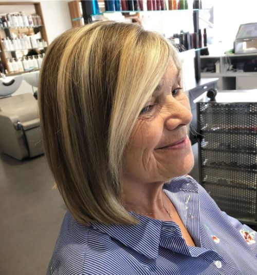 Bronde Lob for Women Over 70