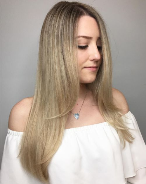 Long Layered Hairstyle for Fine Hair