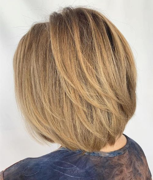 Bob with Layers for Very Fine Hair