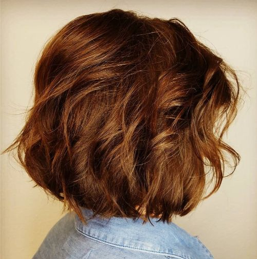 Messy Style with Waves for Redheads