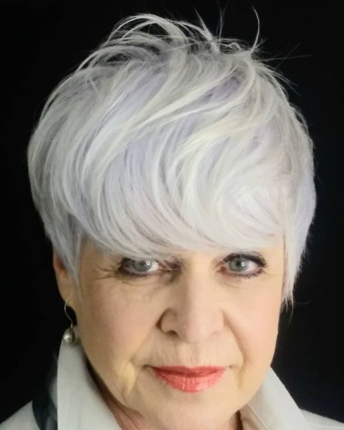 Silver White Hair for Older Women