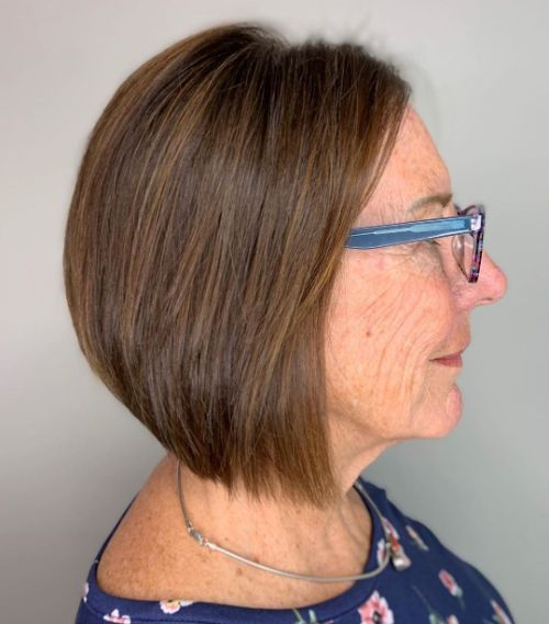 Over 70 Walnut Brown Haircut