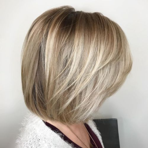 Bob Haircut with Layers for Fine Hair