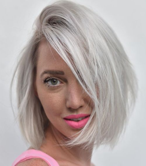 Comb-Over Bob for Scanty Hair