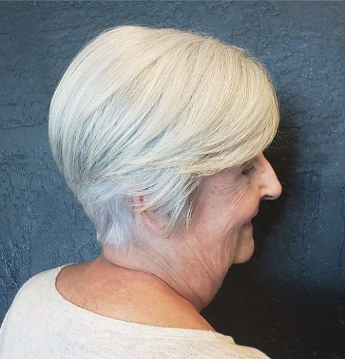 Feminine Tapered Cut for Women Over 70