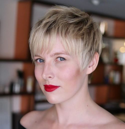 Easy Choppy Pixie Hairstyle for Fine Hair
