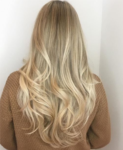 Long Hairstyle with Curls for Fine Hair