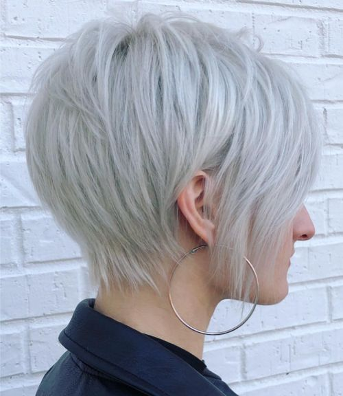 Long Straight Pixie for Thin Hair