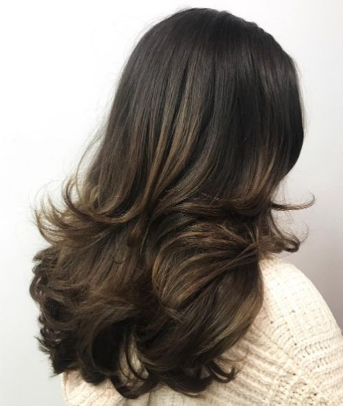 Long Layered Hair Blowout