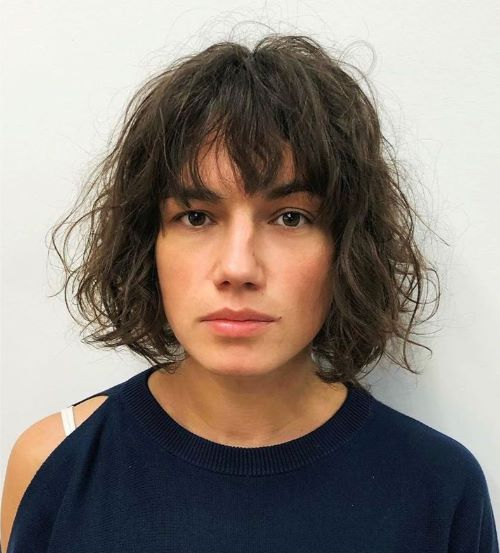 Wavy Cut with Bangs