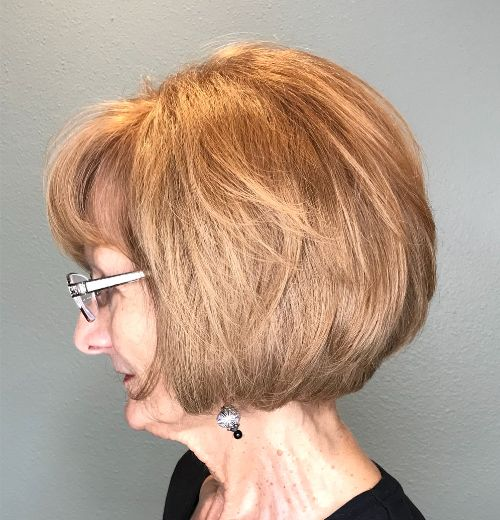 Layered Cut for Thick Hair Over 70