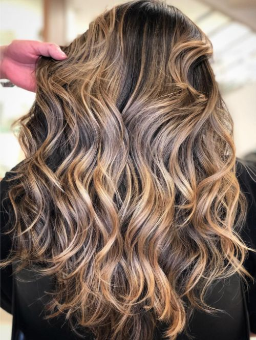 Long Hair with Layers and Waves