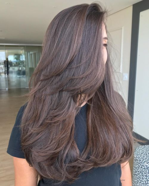 Long Hairstyle with Layers for Thick Hair