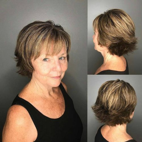 Short Choppy Hairstyle with Shiny Highlights