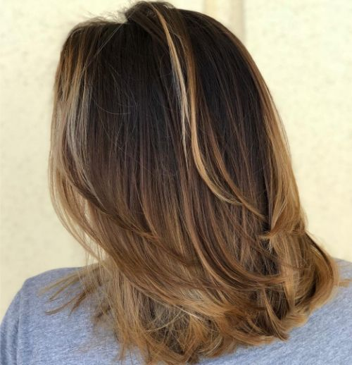Mid-Length Simple Haircut with Layers