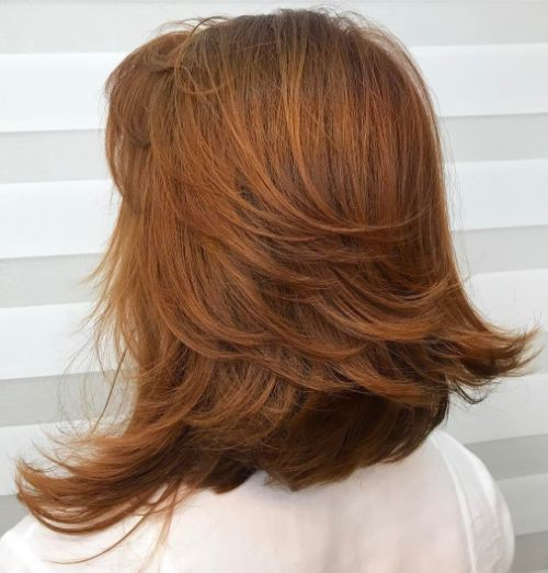 Rich Auburn Medium Layered Haircut