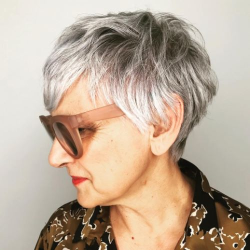 Modern Short Tapered Cut for Gray Hair