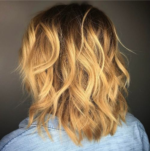 Medium Layered Cut for Wavy Hair