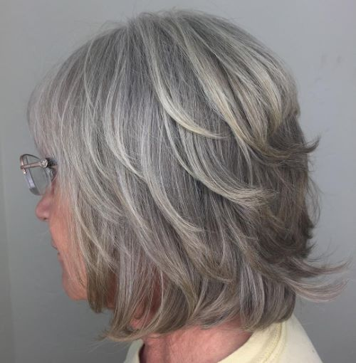 Over 60 Medium Layered Bob