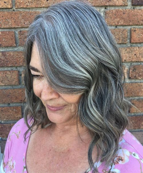 Gray Lob with Highlights and Lowlights